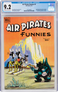 Air Pirates Funnies #2 (Hell Comics Group, 1971) CGC NM- 9.2 Off-white to white pages