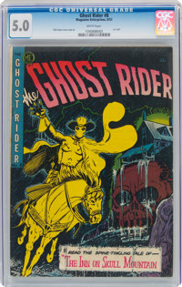 Ghost Rider #8 (Magazine Enterprises, 1952) CGC VG/FN 5.0 White pages