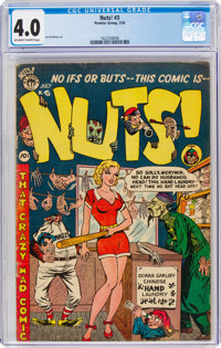 Nuts! #3 (Premiere Comics Group, 1954) CGC VG 4.0 Off-white to white pages