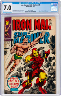 Iron Man and Sub-Mariner #1 (Marvel, 1968) CGC FN/VF 7.0 Off-white to white pages