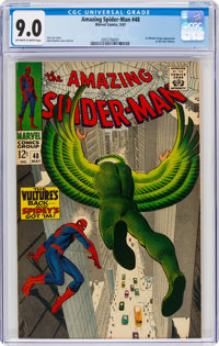 The Amazing Spider-Man #48 (Marvel, 1967) CGC VF/NM 9.0 Off-white to white pages