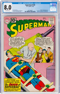 Superman #149 (DC, 1961) CGC VF 8.0 Off-white pages