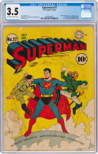 Superman #17 (DC, 1942) CGC VG- 3.5 Off-white to white pages