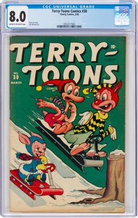 Terry-Toons Comics #30 (Timely, 1945) CGC VF 8.0 Cream to off-white pages