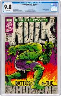 The Incredible Hulk Annual #1 (Marvel, 1968) CGC NM/MT 9.8 Off-white pages