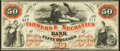 Obsoletes By State:Georgia, Savannah, GA- Farmers & Mechanics Bank $50 June 1, 1860 G12a Extremely Fine.. ...