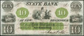 New Brunswick, NJ- State Bank at New Brunswick $10 18__ Remainder Crisp Uncirculated
