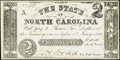Raleigh, NC- State of North Carolina $2 Oct. 6, 1861 Cr. 22 Crisp Uncirculated