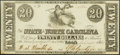 Raleigh, NC- State of North Carolina $20 Feb. 15, 1862 Cr. 75 Crisp Uncirculated