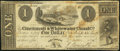 Cincinnati, OH- Cincinnati & Whitewater Canal Co. $1 Oct. 15, 1840 Fine-Very Fine