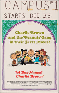 "A Boy Named Charlie Brown (National General, 1969). Fine/Very Fine. Window Card (14"" X 22""). Charles Schulz Ar..."