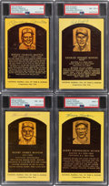 Baseball Collectibles:Others, 1980's-2000's Hall of Famers Signed Yellow PSA/DNA-Graded ...