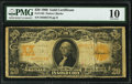 Fr. 1185 $20 1906 Gold Certificate PMG Very Good 10