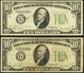 Small Size:Federal Reserve Notes, Fr. 2009-E*; G* $10 1934D Federal Reserve Star Notes. Very Good or Better.. ... (Total: 2 notes)