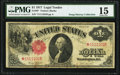 Large Size:Legal Tender Notes, Fr. 36* $1 1917 Star Legal Tender PMG Choice Fine 15.. ...