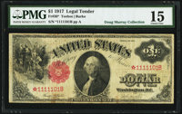 Fr. 36* $1 1917 Star Legal Tender PMG Choice Fine 15