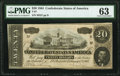 Confederate Notes:1864 Issues, T67 $20 1864 PF-13 Cr. 513 PMG Choice Uncirculated 63.. ...