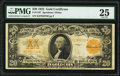 Large Size:Gold Certificates, Fr. 1187 $20 1922 Gold Certificate PMG Very Fine 25.. ...