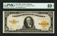 Fr. 1173 $10 1922 Gold Certificate PMG Extremely Fine 40 EPQ