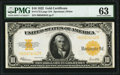 Fr. 1173 $10 1922 Gold Certificate PMG Choice Uncirculated 63