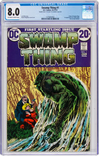 Swamp Thing #1 Double Cover (DC, 1972) CGC VF 8.0 Off-white to white pages