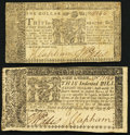 Maryland April 10, 1774 $1 Fine-Very Fine; Maryland April 10, 1774 $8 Very Fine. ... (Total: 2 notes)
