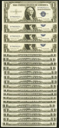 Fr. 1616 $1 1935G No Motto Silver Certificates. Twenty-one Examples. About Uncirculated to Choice Crisp Uncirculated...