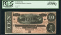 Confederate Notes:1864 Issues, T68 $10 1864 PF-31 Cr. 549 PCGS About New 53PPQ.. ...