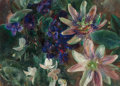 Paintings, Henriette Wyeth (American, 1907-1997). Passion Flowers. Oil on canvas. 10-1/4 x 14 inches (26.0 x 35.6 cm). Signed lower...