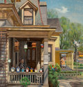 Paintings, John Philip Falter (American, 1910-1982). Bill's Bird House, The Saturday Evening Post cover, May 8, 1948. Oil on board...