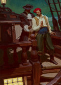 Paintings, Mead Schaeffer (American, 1898-1980). Captain Blood, Blood Money, The American Magazine interior story illustration, Jul...