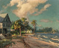 Paintings, Albert E. Backus (American, 1906-1991). Ocean Cottages. Oil on canvas. 24 x 30 inches (61.0 x 76.2 cm). Signed lower rig...