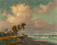 Albert E. Backus (American, 1906-1991) Palms in a Breeze Oil on canvas 24 x 30 inches (61.0 x 76