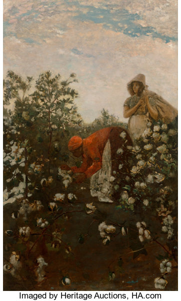 Paintings, Winslow Homer (American, 1836-1910). Upland Cotton, 1879-1895. Oil on canvas. 49-3/4 x 30 inches (12...