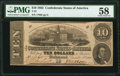 Confederate Notes:1862 Issues, T52 $10 1862 PF-21 Cr. 375 PMG Choice About Unc 58.. ...