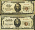 Savannah, GA - $20 1929 Ty. 1 The Citizens & Southern National Bank Ch. # 13068 Fine-Very Fine; Sterling, IL - ... (...