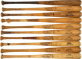Baseball Collectibles:Bats, 1968 Detroit Tigers Game Used Bats from Starting Lineup Lo...