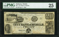 Obsoletes By State:Alabama, Mobile, AL- City Bank of Mobile $20 Jan. 18, 1838 PMG Very Fine 25.. ...