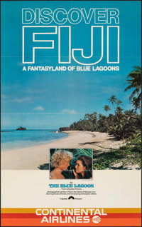 """The Blue Lagoon (Columbia, 1980). Folded, Very Fine-. Travel Poster (25"""" X 40"""") & One Sheet (27"""" X 41..."""