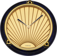 Cartier Art Deco Style Desk Clock, circa 1980's