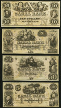 Obsoletes By State:Louisiana, New Orleans, LA- New Orleans Canal and Banking Company $10; $20; $50; $100 18__ Remainders Crisp Uncirculated.. ... (Total: 4 notes)