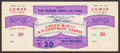 Football Collectibles:Tickets, 1946 Green Bay Packers At New York Giants Full Ticket. ...