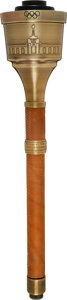 Olympic Collectibles:Autographs, 1984 Los Angeles Summer Olympics Torch with Case, Flame En...