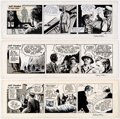 Original Comic Art:Comic Strip Art, Sydney Jordan Jeff Hawke Daily Comic Strip Original Art Group of 3 (Daily Express, 1962-1970).... (Total: 3 Original Art)
