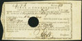 Colonial Notes:Connecticut, State of Connecticut Treasury Office May 1790 £4,7s.6d Very Fine, HOC.. ...