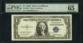 Small Size:Silver Certificates, Fr. 1615* $1 1935F Silver Certificate. PMG Gem Uncirculated 65 EPQ.. ...