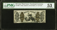 Fr. 1365 50¢ Third Issue Justice PMG About Uncirculated 53
