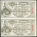 Obsoletes By State:New York, New York, NY - Bankers and Merchants Presentation Enterprise/Clark Webster & Co. $1 Ticket ND (ca. 1880s) Uncut Pair Extre...