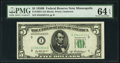 Fr. 1963-I $5 1950B Federal Reserve Note. PMG Choice Uncirculated 64 EPQ