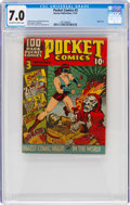 Golden Age (1938-1955):Superhero, Pocket Comics #3 (Harvey, 1941) CGC FN/VF 7.0 Off-white to white pages....
